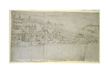 The Tower of London, from 'The Panorama of London', C.1544 Giclee Print by Anthonis van den Wyngaerde