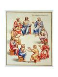 Ms Gen 1496 Plate Cxxxiii Senate, 1674 Giclee Print by Pietro Santi Bartoli