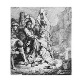 Stoning of St. Stephen Giclee Print by  Rembrandt van Rjin