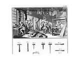 The Instrument Maker's Workshop, Plate Xviii from the 'Encyclopedia' by Denis Diderot (1713-84)… Giclee Print by Robert Benard