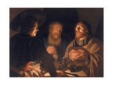 Supper at Emmaus, 1632 Giclee Print by Cryn Hendricksz Volmaryn