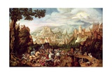 The Conversion of St. Paul on the Road to Damascus Giclee Print by Herri Met De Bles