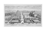 Garden of the Grand Duke of Tuscany on the Monte Pincio, Rome, from 'Il Nuovo Teatro Della… Giclee Print by Giovanni Battista Falda