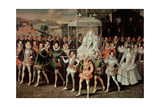 Queen Elizabeth I (1533-1603) Being Carried in Procession (Eliza Triumphans) C.1601 Giclee Print by Robert Peake
