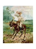 Raoul Tapie De Celeyran (1868-1937) on a Donkey Giclée-tryk af Henri de Toulouse-Lautrec
