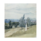 Pere La Chaise Cemetery, Paris Giclee Print by Richard Parkes Bonington