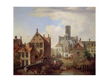 View of St. Bavo Cathedral, C.1831 Giclee Print by Pieter Frans de Noter