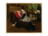 Old Letters and Dead Leaves Giclee Print by Claude Andrew Calthrop