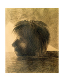 Head of Orpheus on the Water or the Mystic, 1880 Giclee Print by Odilon Redon
