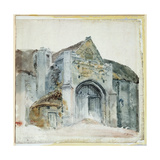 The Tithe Barn, Abbotsbury Giclee Print by Thomas Girtin