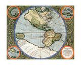 America Sive India Nova, from 'Atlas Cosmographicae Meditationes De Fabrica Mundi Et Fabricati… Giclee Print by Michael Mercator