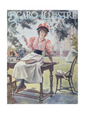 Tennis, Front Cover of 'Figaro Illustre' Magazine, 1893 Giclee Print by Madeleine Lemaire