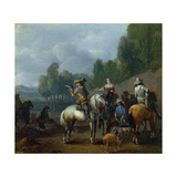 A Hawking Party Giclee Print by Philips Wouwermans Or Wouwerman