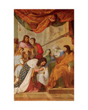St. Louis Healing the Sick Giclee Print by Eustache Le Sueur