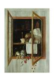 Vanitas Still Life Seen Through a Trompe L'Oeil Window Giclee Print by Cornelis Norbertus Gysbrechts