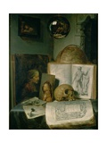 Still Life with a Skull Giclee Print by Gerrit or Gerard Dou
