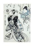 A Theatrical Scene Giclee Print by Ippyotei Ashiyuki