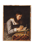 Young Man Writing Giclee Print by Joos Van Craesbeeck