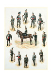 Uniforms of the Rifle Brigade Giclee Print by Richard Simkin