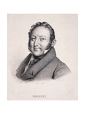 Portrait of Gioacchino Rossini (1792-1868) Engraved by Villain, 1823 Giclee Print by Julien Leopold Boilly