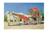 Vehicle of a Rich Man in Delhi, 1874-76 Giclée-Druck von Vasili Vasilievich Vereshchagin