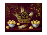 Still Life with Asparagus, Artichokes, Lemons and Cherries Giclee Print by Blas de Ledesma