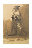 Woman Wearing an Overcoat and a Feathered Hat Giclee Print by Victor Hugo