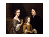 Self Portrait with Husband, Charles and Son, Bartholomew, C.1659-60 Giclee Print by Mary Beale