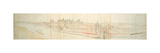 Hampton Court Palace from the River, C.1544 Giclee Print by Anthonis van den Wyngaerde