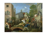 The Election IV Chairing the Member, 1754-55 Giclée-tryk af William Hogarth