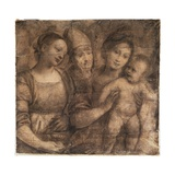 The Madonna and Child with St. Mary Magdalene and a Bishop Giclee Print by Gaudenzio Ferrari