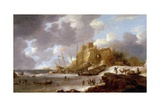 Norwegian Coastal Scene Giclee Print by Jan Peeters