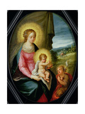 Madonna and Child with the Infant St. John Giclee Print by Frans II the Younger Francken