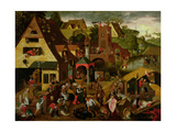 The Flemish Proverbs Giclee Print by Pieter Balten