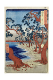 Coast of Maiko, Harima Provine Giclee Print by Ando Hiroshige