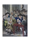 Stockjobbers Extraordinary, Satirical Sketch Giclee Print by Robert Dighton