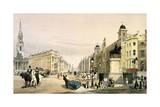 View from Charing Cross Looking Towards the Strand, 1842 Giclee Print by Thomas Shotter Boys