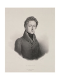 Frederic Chopin (1810-49) Engraved by Gottfried Engelmann (1788-1839) 1833 Giclee Print by Pierre Roch Vigneron