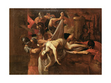 St Sebastian Thrown by Soldiers into Cloaca Maxima Giclee Print by Lodovico Carracci