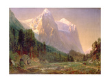 Sunrise on the Wetterhorn, 1858 Giclee Print by Thomas Worthington Whittredge