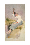 Louise, a Breton Girl Giclee Print by Elizabeth Adela Stanhope Forbes