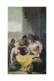St. Isabella Caring for the Lepers Giclee Print by Francisco de Goya