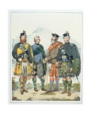 John Maclachlan, Hugh Grahame, James Macfarlane and Angus Colquhoun, Four of Queen Victoria's… Giclee Print by Kenneth Macleay