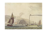 Steam Boat on the Clyde Near Dumbarton, 1802 Giclee Print