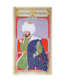 Ms Hazine.1563 Mehmed II (1432-1481), from the 'semailname', 1579 Giclee Print by  Nakkas Osman