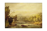 A View on the Brathay Near Ambleside Giclee Print by Anthony Vandyke Copley Fielding