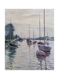 Boats Anchored on the Seine Giclee Print by Gustave Caillebotte