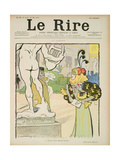At the Sculpture Exhibition, Front Cover of 'Le Rire', 23rd May 1896 Giclee Print by Lucien Metivet