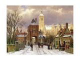 Winter Scene in Amsterdam Giclee Print by Willem Koekkoek