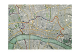 Map of London, 1852 Giclee Print by Charles Knight